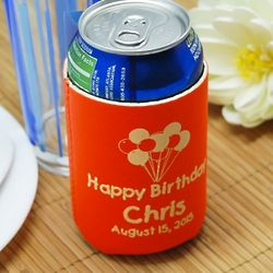 Personalized Neoprene Birthday Koozies