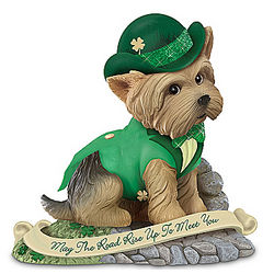 May the Road Rise Up to Meet You Irish Yorkie Figurine