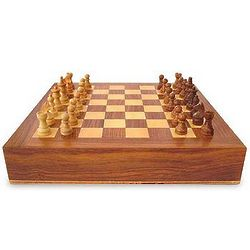 Handcrafted Wood Chess and Backgammon Set