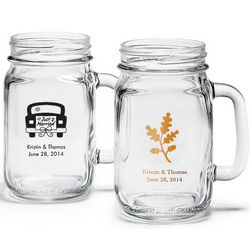 Personalized Mason Jar Drinking Glasses
