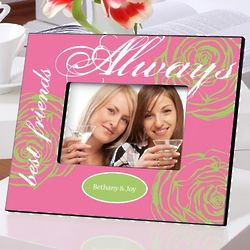 Personalized Always Best Friends Frame