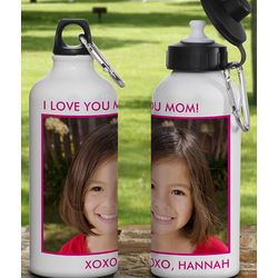 One Photo Personalized Water Bottle