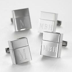 Rhodium Plated USB Flash Drive Cuff Links