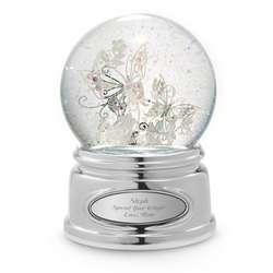 Santa Lucia Butterfly Snow Globe