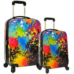 Paint Splatter 2-Piece Hardside Expandable Luggage