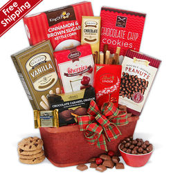 Christmas Cheer Holiday Treats Gift Basket