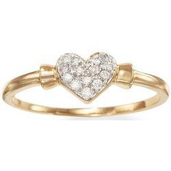 Diamond Heart Promise Ring in 14kt Gold