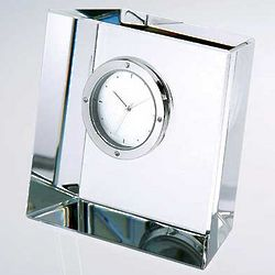 Slanted Block Crystal Clock