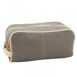 Dopp Kit in Gray with Zipper Closure