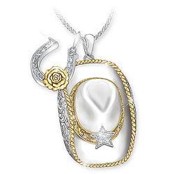 Country Gal Swarovski Crystal Pendant Necklace