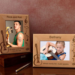 Personalized Guitar Wooden Picture Frame