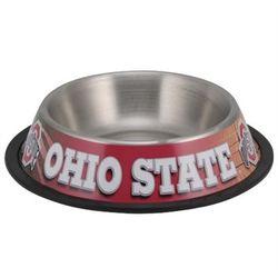 Ohio State Buckeyes Stainless Steel Pet Bowl