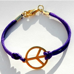 Peace Sign Bracelet in Purple
