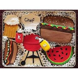 Barbecue Time Sugar Cookie Gift Tin