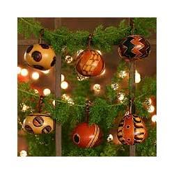 Festive Geometries Mate Gourd Ornaments