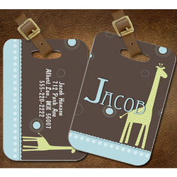 Personalized Giraffe Luggage/ Diaper Bag Tag
