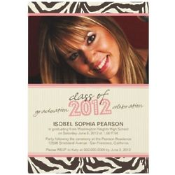 Class of 2012 Zebra Chic Graduation Announcement