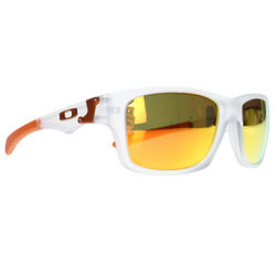 Oakley Matte Clear/Fire Iridium Lens Jupiter Squared Sunglasses