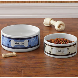Personalized Large Throw Me A Bone Dog Bowl