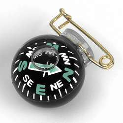 Fisheye Pin-On Specialty Compass