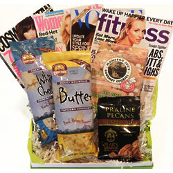 Fashion and Fitness Magazines Gift Basket