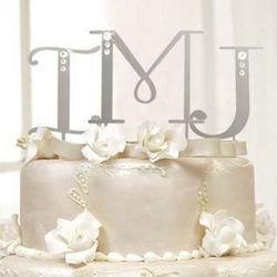 Swarovski Crystal Letter Cake Topper