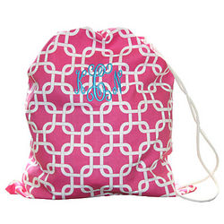 Personalized Pink Chain Design Laundry Bag