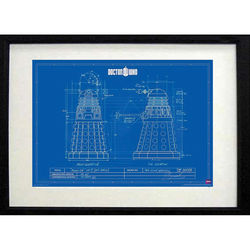 Doctor Who Framed Dalek Blueprint