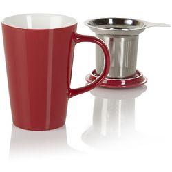 Red Angle Tea Infuser Mug
