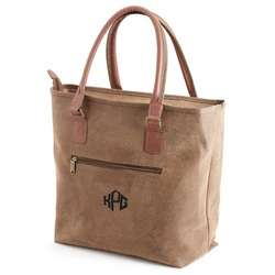 Brown Scotch Grain Tote Bag