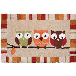 Owl Trio Accent Rug