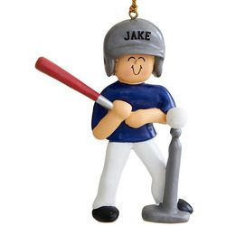 Boy's Personalized T-Ball Ornament
