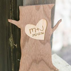Personalized Wood Tree Trunk Party Decoration