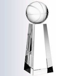 Championship Basketball Crystal Trophy
