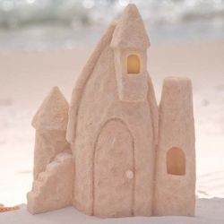 Solar Sandcastle Fairy House Garden Sculpture