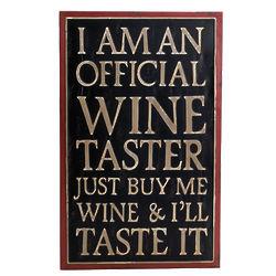 Official Wine Taster Wall Art