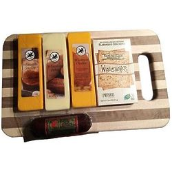Northwoods Variety Cheese & Sausage Cutting Board Gift Set