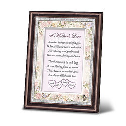 A Mother's Love Personalized Framed Poem