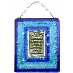 Blue Frame Glass Home Blessing in English
