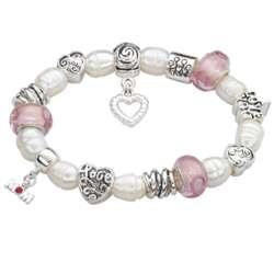 Freshwater Pearl Mom Bead Bracelet