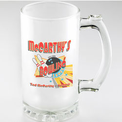 Personalized Bowling Frosted Sports Mug