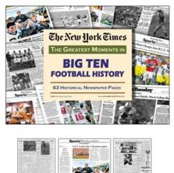 Big 10 Football's Greatest Moments Book