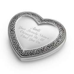 Expressions Heart Compact Mirror Gift
