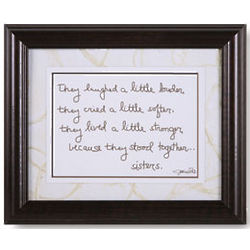Because They Stood Together Sisters Framed Print