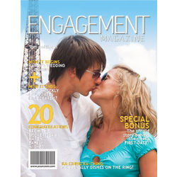Personalized Engagement Magazine Cover