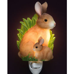 Mom and Baby Bunny Night Light