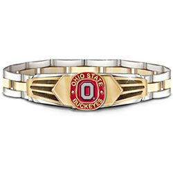 Ohio State Buckeyes Stainless Steel Men's Bracelet