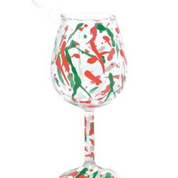 Holiday Splash Mini Wine Glass Ornament