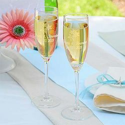 Personalized Beach Wedding Toasting Flutes