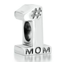 Number 1 Mom Charm